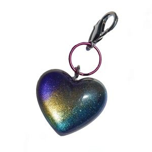 Rainbow Heart Sparkly Luxury Kawaii Keychain
